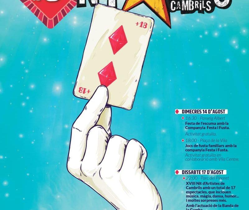 La Nit d'Artistes de Cambrils aixeca el teló amb 17 espectacles de música, màgia, dansa, teatre i humor