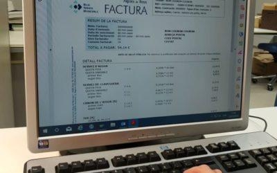Aigües de Reus es proposa incrementar el número  de clients que rep la factura electrònica