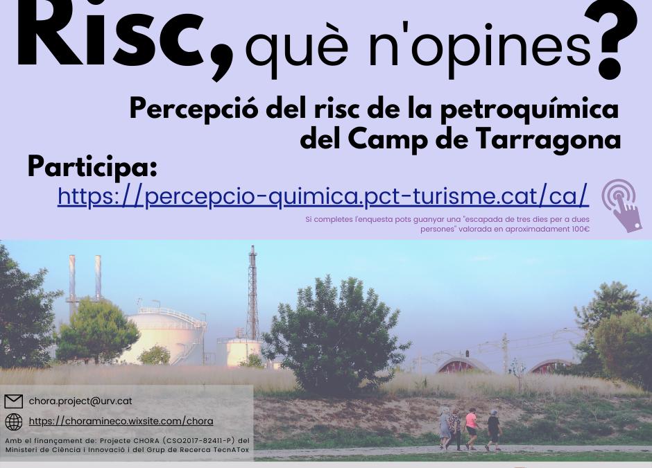 Impulsen una enquesta ciutadana per valorar la percepció de risc petroquímic al Camp de Tarragona