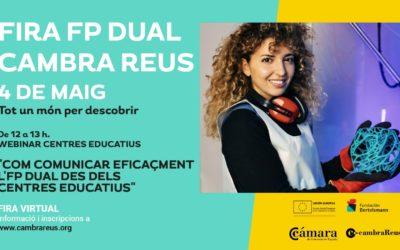 Onze instituts i vint empreses del territori participaran a la tercera fira de l'FP DUAL de la Cambra de Reus