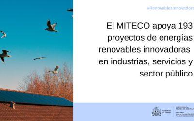 El MITECO apoya tres proyectos innovadores de energías renovables en la provincia de Tarragona
