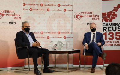 El secretari d'Empresa i Competitivitat de la Generalitat, Albert Castellanos, inaugura el cicle Vermut Cambra Reus