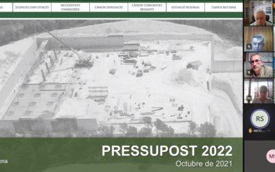 El Consorci d'Aigües de Tarragona aprova el pressupost per a l'any 2022 per un import de 39,6M